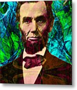 Abraham Lincoln 2014020502p145 Metal Print by Wingsdomain Art and Photography