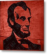 Abraham Lincoln License Plate Art Metal Print by Design Turnpike