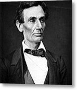 Abraham Lincoln Portrait Metal Print by Anonymous