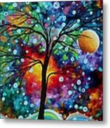 Abstract Art Original Colorful Landscape Painting A Moment In Time By Madart Metal Print by Megan Duncanson