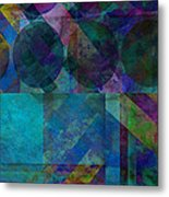 abstract - art - Stripes Five  Metal Print by Ann Powell
