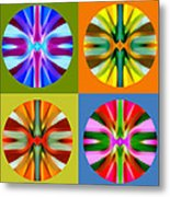 Abstract Circles And Squares 1 Metal Print by Amy Vangsgard