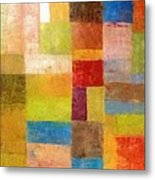 Abstract Color Study Vii Metal Print by Michelle Calkins