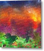 Abstract - Crayon - Utopia Metal Print by Mike Savad