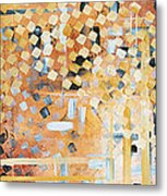 Abstract Decorative Art Original Diamond Checkers Trendy Painting By Madart Studios Metal Print by Megan Duncanson
