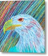 Abstract Eagle With Red Eye Metal Print by Kenal Louis