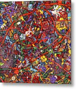 Abstract - Fabric Paint - Sanity Metal Print by Mike Savad