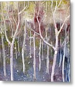 Abstract Forest Metal Print by Suzette Broad