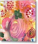 Abstract Garden #44 Metal Print by Linda Woods