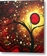Abstract Landscape Glowing Orb By Madart Metal Print by Megan Duncanson