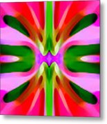 Abstract Pink Tree Symmetry Metal Print by Amy Vangsgard