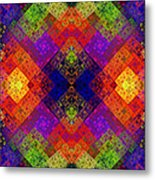Abstract - Rainbow Connection - Panel - Panorama - Horizontal Metal Print by Andee Design
