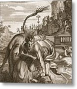 Achelous In The Shape Of A Bull Metal Print by Bernard Picart