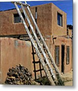 Acoma Pueblo Adobe Homes 3 Metal Print by Mike McGlothlen