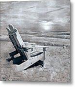 Adirondack Sunrise Topsail Island Metal Print by Betsy Knapp