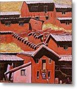 Adobe Village - Peru Impression II Metal Print by Xueling Zou
