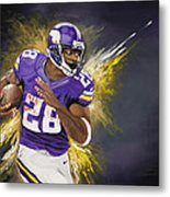 Adrian Peterson Metal Print by Don Medina