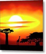Africa Sunset Metal Print by Michal Boubin