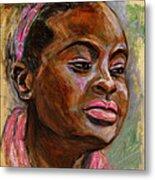 African American 3 Metal Print by Xueling Zou