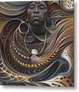 African Spirits I Metal Print by Ricardo Chavez-Mendez