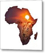 African Wildlife Map Metal Print by Johan Swanepoel