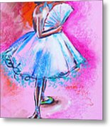 After Master Degas Ballerina With Fan Metal Print by Susi Franco