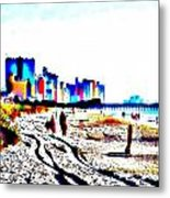 Afternoon At The Beach Metal Print by Angelia Hodges Clay
