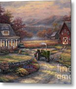 Afternoon Harvest Metal Print by Chuck Pinson
