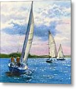 Afternoon Sail Metal Print by Karol Wyckoff