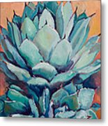 Agave With Pups Metal Print by Athena  Mantle