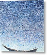 Ahead Of The Storm Metal Print by James W Johnson