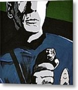 Aiming His Phaser Metal Print by Judith Groeger
