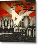 Air Raid Metal Print by Milton Thompson