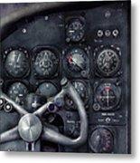 Air - The Cockpit Metal Print by Mike Savad