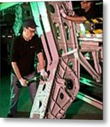 Airbus A350 Xwb Wing Manufacturing Metal Print by Science Photo Library