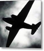Airplane Silhouette Metal Print by Tony Cordoza