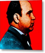 Al Capone C28169 - Red - Painterly - Text Metal Print by Wingsdomain Art and Photography