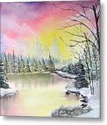 Alaskan Sunset Metal Print by Kevin  Brown