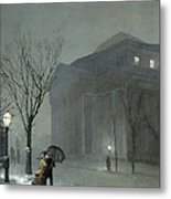 Albany In The Snow Metal Print by Walter Launt Palmer