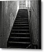 Alcatraz Hospital Stairs Metal Print by RicardMN Photography