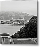 Alcatraz Island From Hyde Street In San Francisco Metal Print by RicardMN Photography