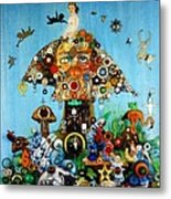 Alice In Blunderland Metal Print by Douglas Fromm
