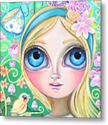 Alice In Pastel Land Metal Print by Jaz Higgins