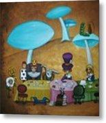Alice In Wonderland Art - Mad Hatter's Tea Party I Metal Print by Charlene Murray Zatloukal