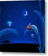 Alien And Chameleon Metal Print by Gianfranco Weiss