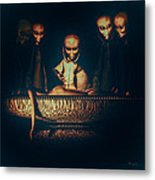 Alien Autopsy Alien Abduction Metal Print by Bob Orsillo