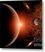 Alien Sunrise On A Distant Alien World Metal Print by Mark Stevenson
