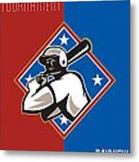 All Star Baseball Tournament Retro Poster Metal Print by Aloysius Patrimonio