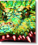 Alligator 20130702 Metal Print by Wingsdomain Art and Photography