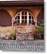 Alsatian Home In Kaysersberg France Metal Print by Greg Matchick
